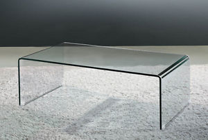 Featured Photo of Modern Glass Waterfall Coffee Table