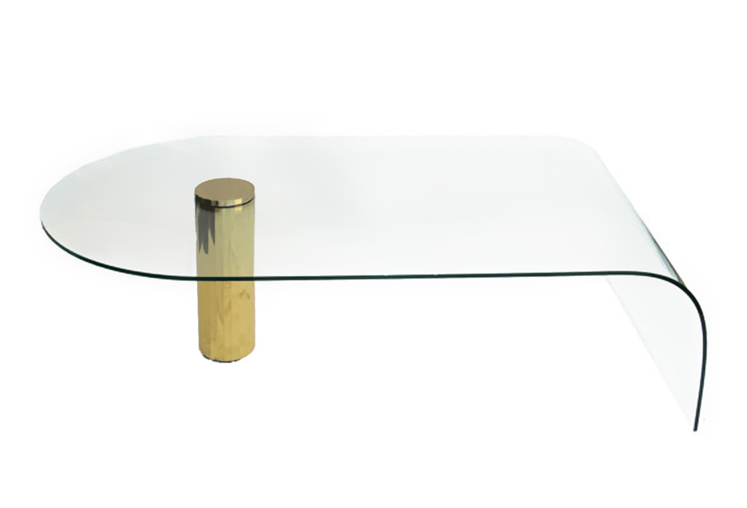 Glass Waterfall Coffee Table Contemporary Glass Coffee Tables With Minimalist Design Rustic Meets Elegant In This Spherical Rare Vintage Retro 60s A Younger (Image 2 of 10)