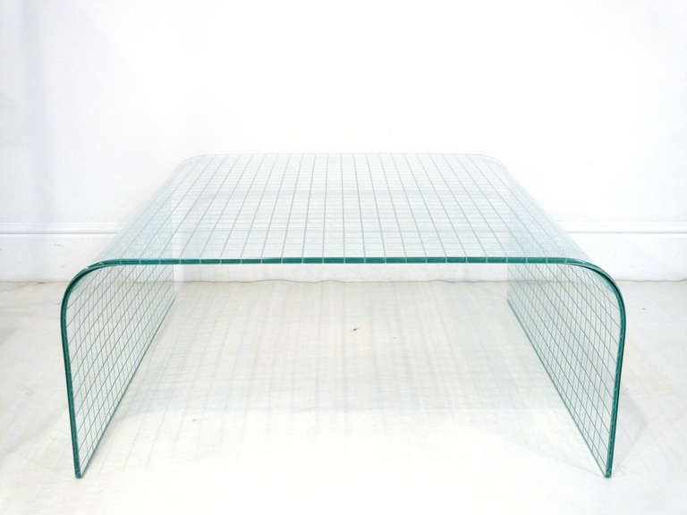Glass Waterfall Coffee Table Related How To Decorate Your Living Room But Also Suspends A Woven Cat Hammock Below So You (Image 7 of 10)
