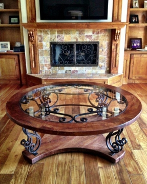 Featured Photo of Modern Classic Glass Wrought Iron Coffee Table