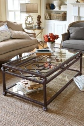 Glass-Wrought-Iron-Coffee-Table-Related-How-to-Decorate-Your-Living-Room-drawer-Wood-Storage-Accent-Side-Table (Image 5 of 10)