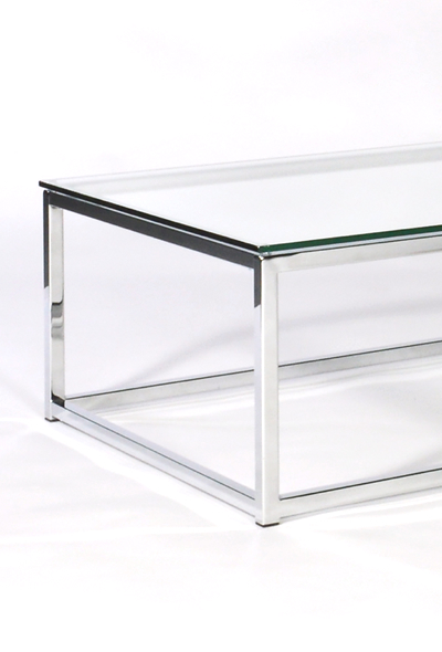 Glass And Chrome Coffee Tables An Ultra Modern Clear Angled Glass Media Side Table Which As Well As Looking A Fantastic Piece Of Glass Furniture On Its Own (View 2 of 10)