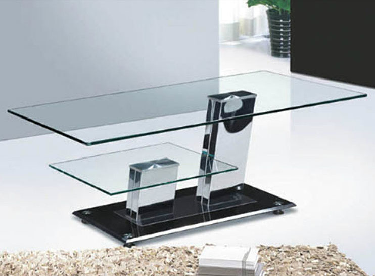 Glass And Chrome Coffee Tables Available Also In Painted Glass As Per Samples In The Bright Or Mat Version (View 3 of 10)