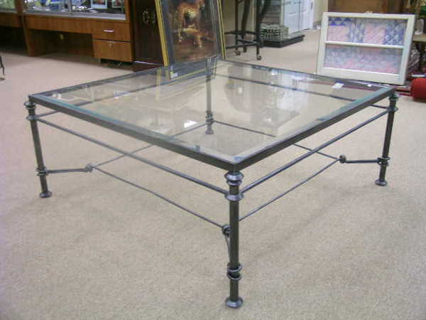 Glass And Iron Coffee Tables Furniture Inspiration Ideas Simple And Neat Look Handmade Contemporary Furniture (View 4 of 10)