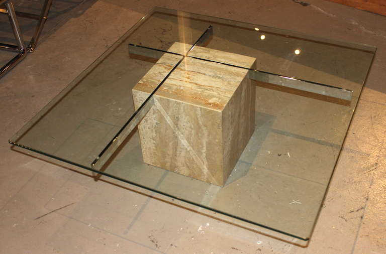Featured Photo of Modern Minimalist Glass And Marble Coffee Table