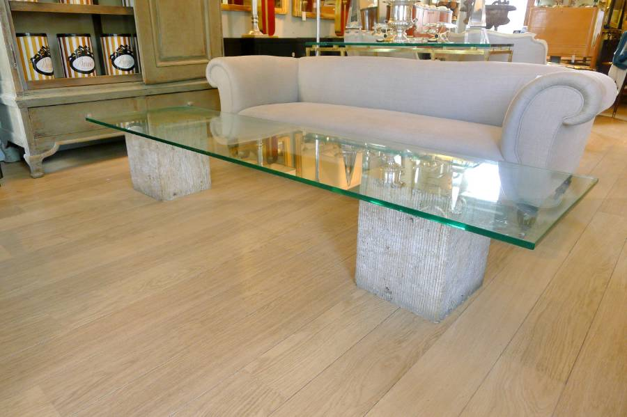 Glass And Marble Coffee Table Beautiful Interior Furniture Design But Also Suspends A Woven Cat Hammock Below So You (View 2 of 10)
