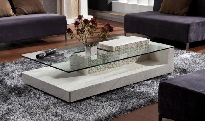 Explore Photos Of Modern Minimalist Glass And Marble Coffee Table - All marble coffee table