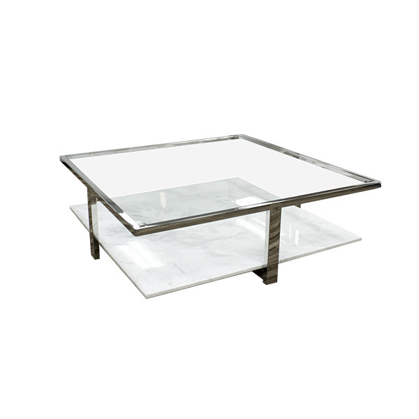 Glass And Marble Coffee Table The Perfect Size To Fit With One Of Our Younger Sectional Sofas (View 8 of 10)