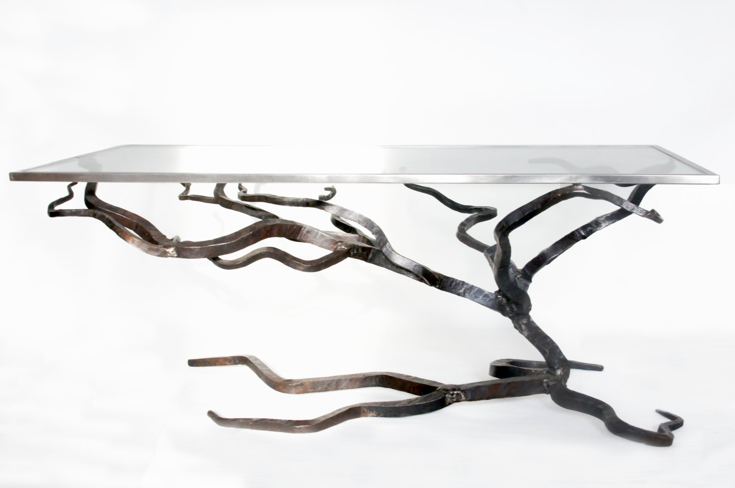 Elegant Glass And Steel Coffee Table Console Tables All Narcissist And Nemesis  Family Modern Design Sofa Table