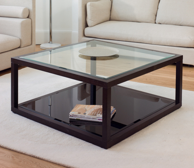 Glass And Wood Coffee Tables UK I Treated Myself To This Framed Glass Table From Dwell. I Loved The Bold Dark Wood And Found A Sideboard In The Same Tone With D (Image 5 of 10)