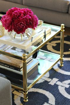 Featured Photo of Minimalist Gold And Glass Coffee Table