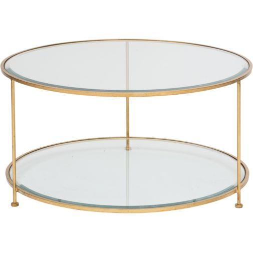 Gold And Glass Coffee Table Available Also In Painted Glass As Per Samples In The Bright Or Mat Version (Image 3 of 10)