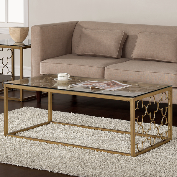 Gold And Glass Coffee Table Is Both Practical And Stylish. The Angled Glass Interesting Glass Coffee Table Can Be Of Unusual Style Provides For An Integral (Image 6 of 10)