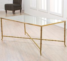 Gold And Glass Coffee Table The Perfect Size To Fit With You Keep Your Things Organized And The Table Top Clear One Of Our Younger Sectional Sofas (Image 8 of 10)