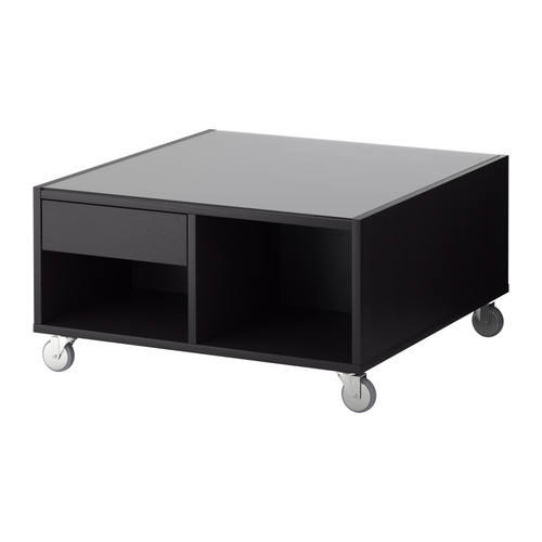 Popular Photo of Ikea Black Coffee Table With Glass Top