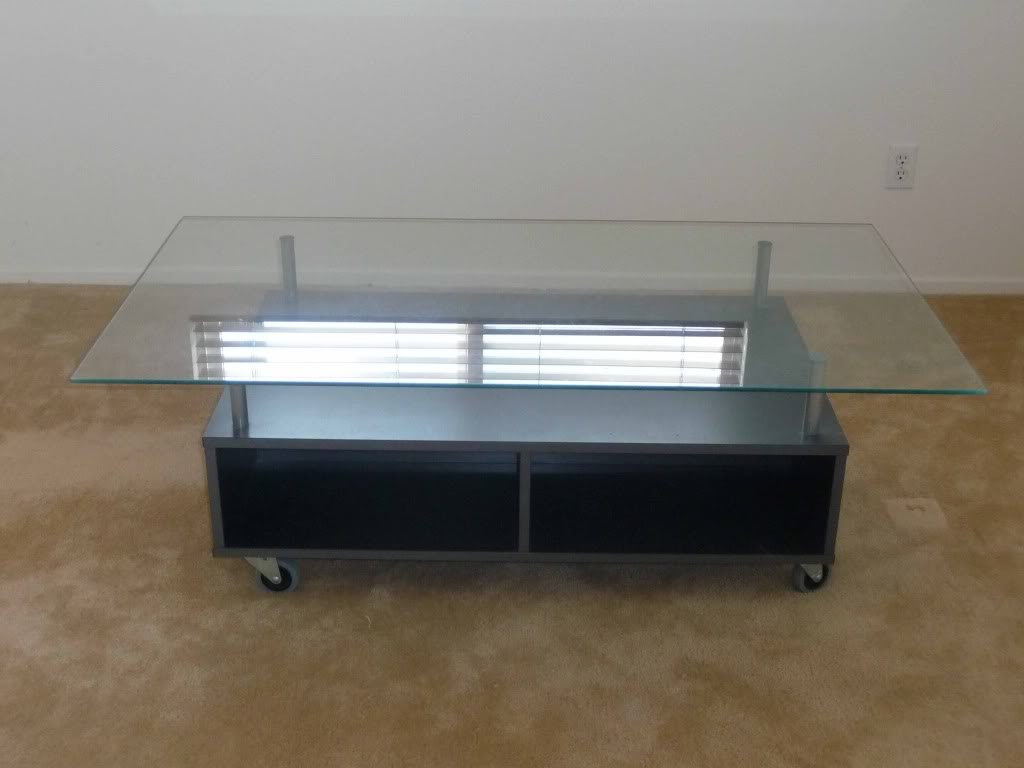 Ikea-Black-Coffee-Table-With-Glass-Top-Grey-Lift-up-Modern-Coffee-Table-Mechanism-Hardware-Fitting-Furniture-Hinge-Spring-Available-also-in-painted-glass-as (Image 4 of 10)