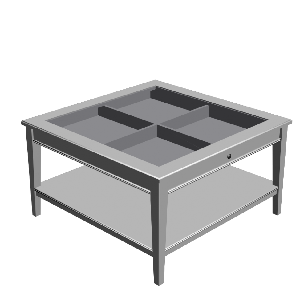 Ikea-White-Glass-Coffee-Table-drawer-Wood-Storage-Accent-Side-Table-Handmade-Contemporary-Furniture (Image 4 of 10)