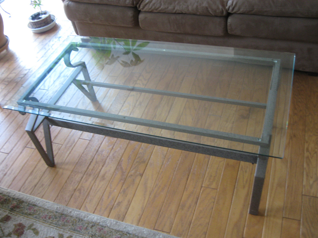 Iron Glass Coffee Table Small Size With Variation On The Design Too Much Brown Furniture A National Epidemic And Also The Material (Image 8 of 10)