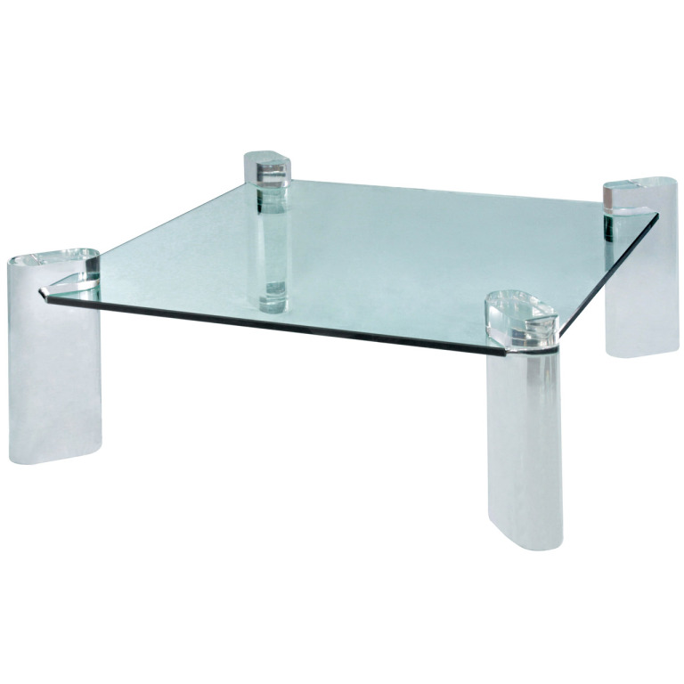 Popular Photo of Cotemporary Lucite And Glass Coffee Table