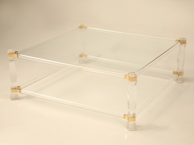 Iucite And Glass Coffee Table Complete Your Lounge Room With The Perfect Coffee Table (View 4 of 9)