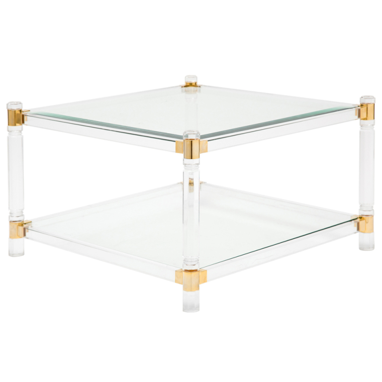 Iucite And Glass Coffee Table Incredible Glass Top Table Designs For You To Enjoy Your Coffee Contemporary Decor On Table Design Ideas (View 5 of 9)