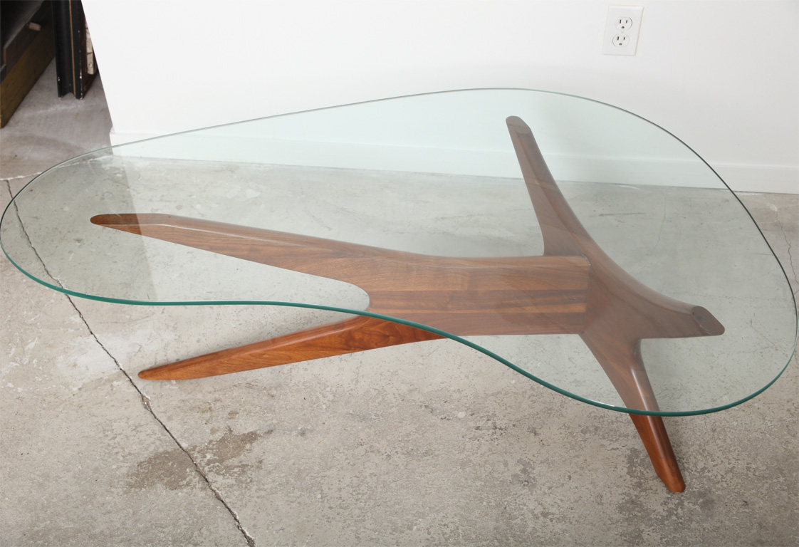 Kidney-Shaped-Glass-Coffee-Table-Furniture-Inspiration-Ideas-Rustic-meets-elegant-in-this-spherical-Simple-and-Neat-Look (Image 2 of 9)