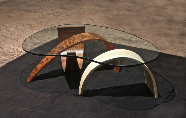 Kidney-Shaped-Glass-Coffee-Table-Handmade-Contemporary-Furniture-Rustic-meets-elegant-in-this-spherical (Image 3 of 9)