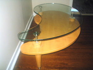 Kidney-Shaped-Glass-Coffee-Table-Walmart-Tables-Elegant-With-Pictures-drawer-Wood-Storage-Accent-Side-Table (Image 8 of 9)