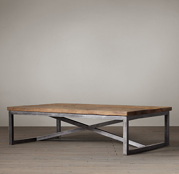 LOFT-retro-rustic-wood-coffee-table-made-of-old-wood-wrought-iron-wrought-iron-side-a-few-small-coffee-table (Image 3 of 10)