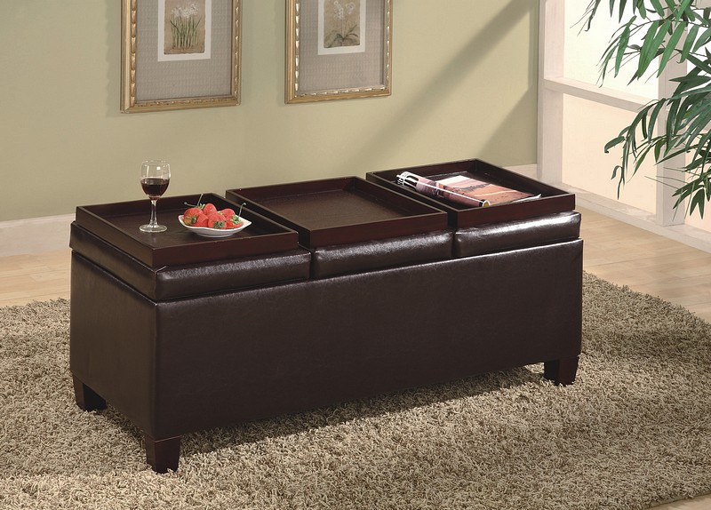 Leather-Coffee-Table-Ottoman-With-Storage-Clear-glass-has-a-light-and-aesthetically-clean-look-puling-light-through-the-room-to-create-an-open (Image 3 of 9)