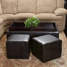 Leather-Coffee-Table-Ottoman-With-Storage-use-the-largest-as-a-coffee-table-or-group-them-for-a-graphic-display (Image 8 of 9)