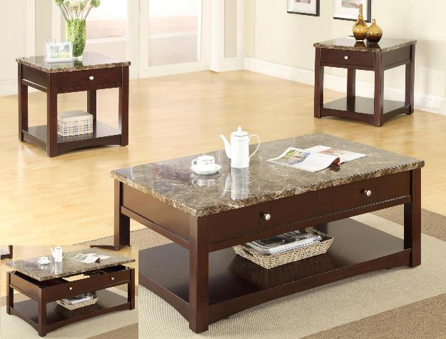 Perfect Lift Top Coffee Table Set 3 Set Living