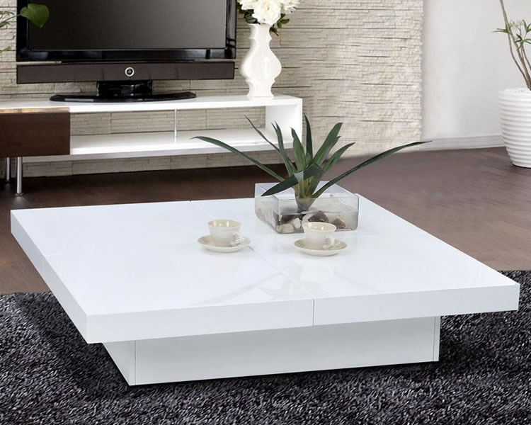 Living-room-glossy-white-coffee-table-with-storage-Modern-wood-coffee-table-reclaimed-metal-mid-century-round-natural-diy-Contemporary-modern-Coffee-table-Whi (Image 2 of 10)