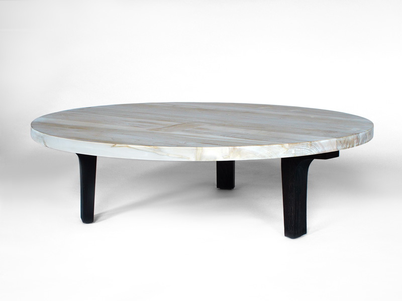 Low Round Coffee Table Round Shape Coffee Table Stained Wood Free Download (View 6 of 10)