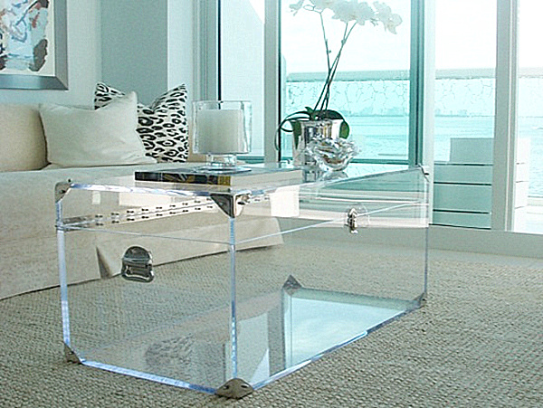Lucite Trunk By Serge De Troyer Round Acrylic Coffee Table For Your Living Room Square Lucite Coffee Table (View 4 of 9)