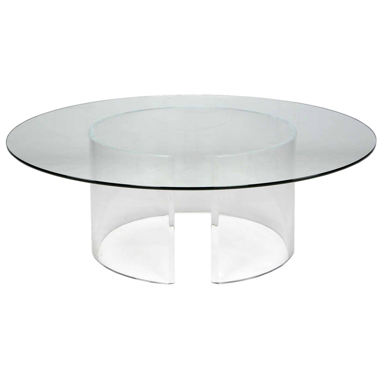 Lucite Coffee Table Remodel Cylinder Lucite Coffee Table Design Glass Round Lucite Coffee Table (View 2 of 9)