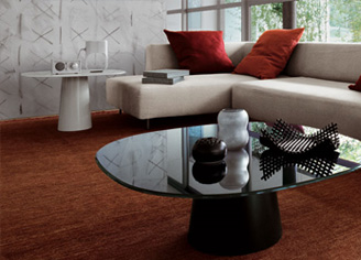 Luxury Glass Coffee Tables Modern Glass Top Coffee Table For All Black Coffee Table Designs With White Creamy Sofa (Image 8 of 10)
