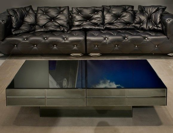 Luxury Glass Coffee Tables Visionnaire IPE Cavalli Acer Luxury Italian Designer Coffee Table In Beveled Glass (Image 10 of 10)
