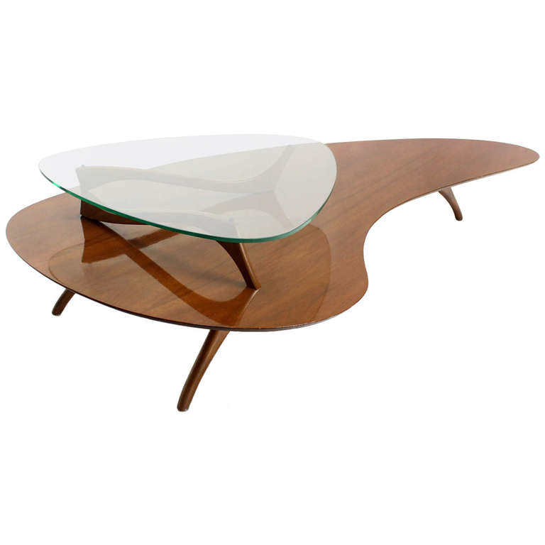 MID Century Modern Coffee Table Glass Furniture Inspiration Ideas Simple And Neat Look The Shelf Underneath Is For Magazines (View 3 of 10)