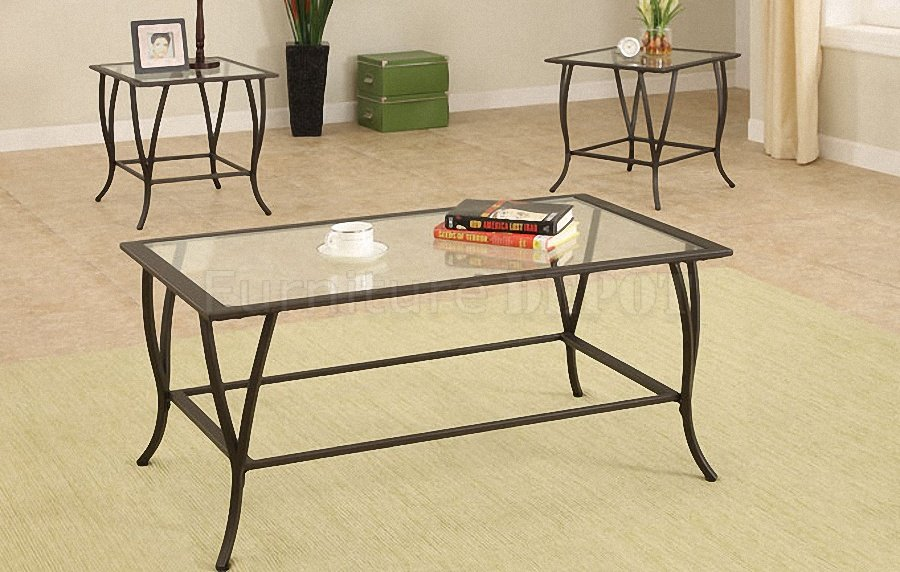 Featured Photo of Elegant Metal Coffee Table With Glass Top