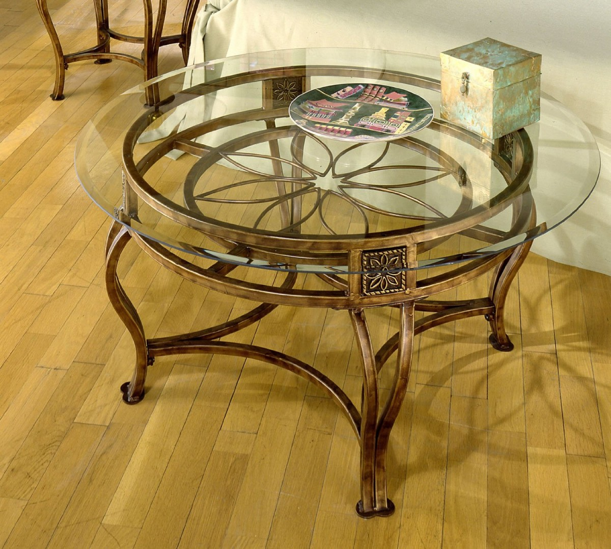 Metal Glass Coffee Table Furniture Inspiration Ideas Simple And Neat Look The Shelf Underneath Is For Magazines (Image 3 of 10)