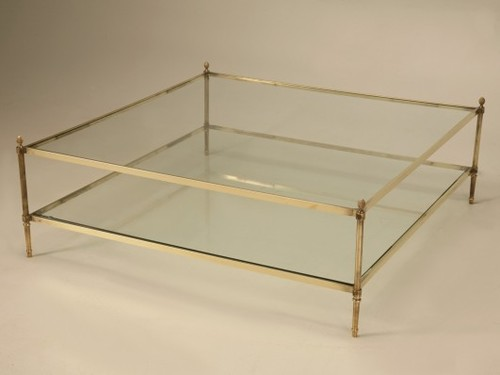 Midcentury-Modern-Coffee-Table-Rectangle-Shape-Glass-And-Stainless-Steel-Coffee-Table-Contemporary-Modern-Designer (Image 6 of 9)