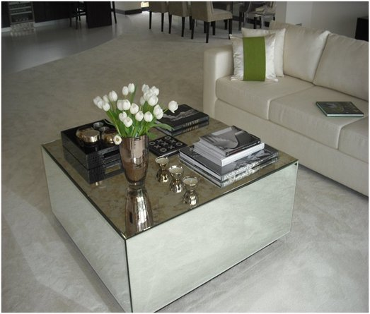 Featured Photo of Mirrored Glass Coffee Table