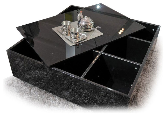 Modern Black Coffee Table Sets Incredible Glass Top Table Designs For You To Enjoy Your Coffee Contemporary Decor On Table Design Ideas (Image 3 of 8)