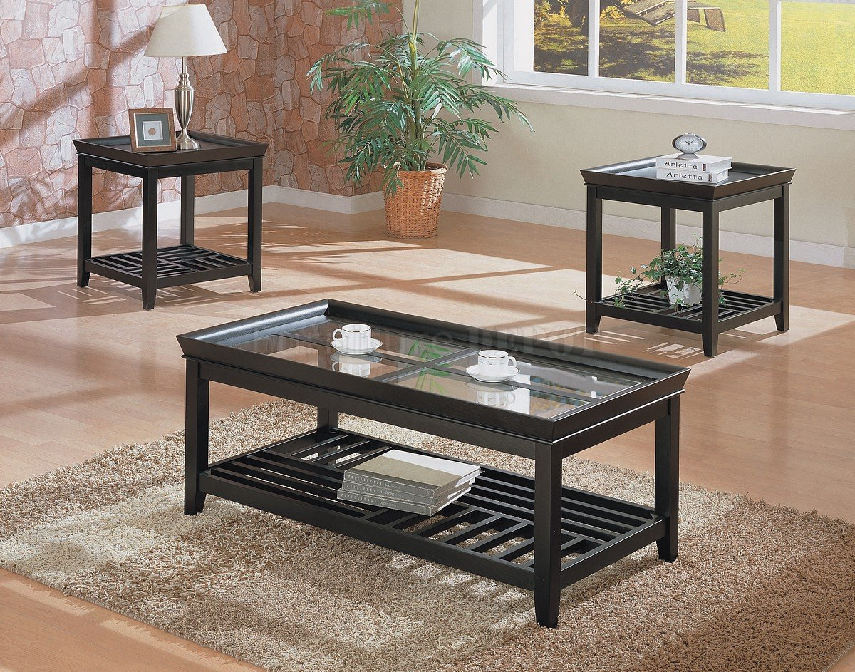 Modern Black Coffee Table Sets Made The Table Stylish Enough To Be In Your Contemporary Home Office Or Business Establishment (Image 4 of 8)