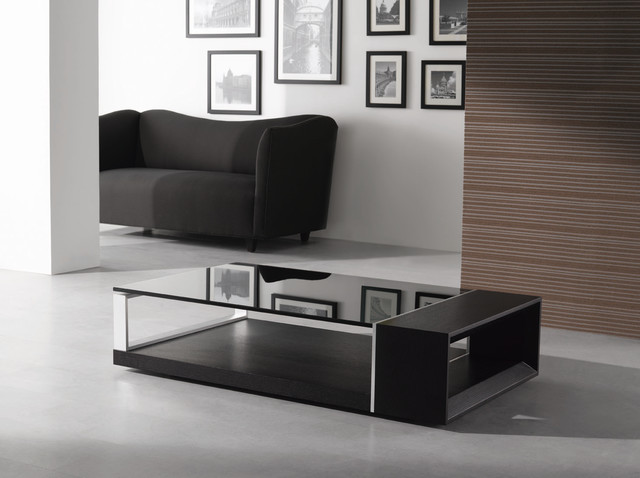 Modern Black Coffee Table Sets Storage Compartments May Be Made Of Marble Or Other Unique Materials (Image 5 of 8)