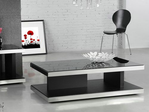 10 Ideas of Modern Black Glass Coffee Tables