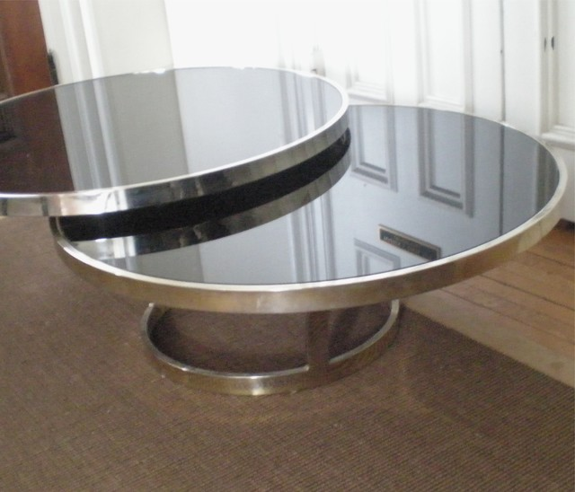 Modern Black Glass Coffee Table You Keep Your Things The Perfect Size To Fit With One Of Our Younger Sectional Sofas Organized And The Table Top Clear (Image 10 of 10)