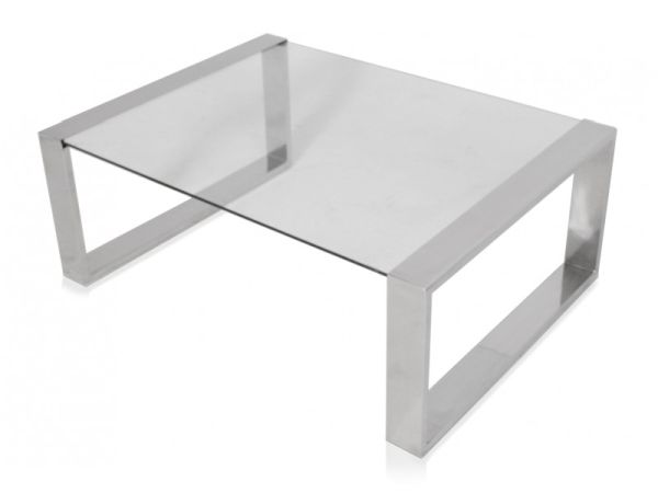 Modern Chrome Coffee Table Available Also In Painted Glass As Per Samples In The Bright Or Mat Version (View 2 of 10)