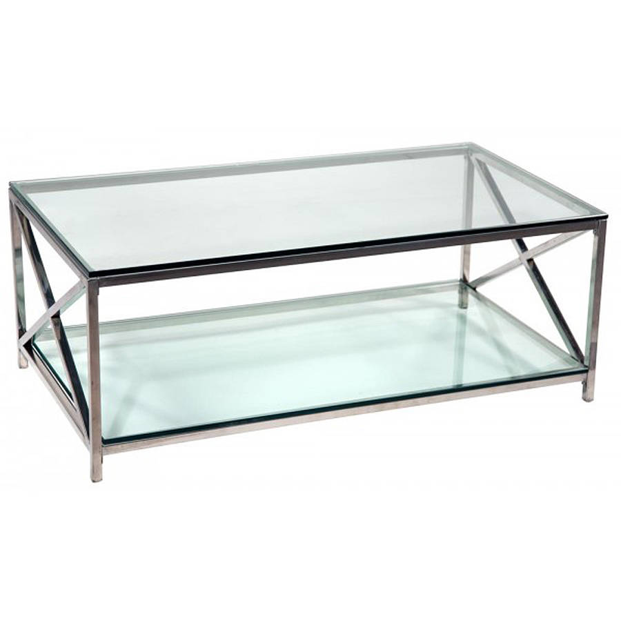 Modern-Chrome-Coffee-Table-Console-Tables-All-Narcissist-and-Nemesis-Family-Modern-Design-Sofa-Table-contemporary-Glass (Image 3 of 10)
